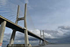 Vasco da Gama Bridge - Lisbon, Portugal Royalty Free Stock Photo