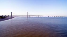 Vasco da Gama Bridge in Lisbon Portugal Stock Photography