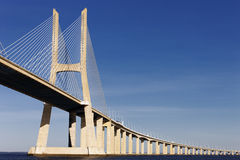 Vasco da Gama bridge in Lisbon in summer Stock Photo