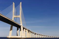 Vasco da Gama bridge in Lisbon in summer Stock Photo
