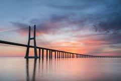 Vasco da Gama Bridge. Lisbon royalty free stock photography