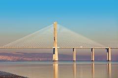 Vasco da Gama bridge in Lisbon. Stock Photo
