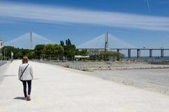 The Vasco da Gama bridge in Lisbon Royalty Free Stock Photo