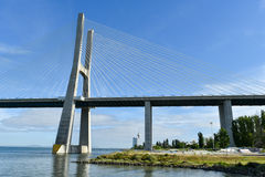 Vasco da Gama Bridge - Lisbonne, Portugal Image libre de droits