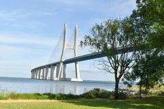 Vasco da Gama Bridge - Lisbonne, Portugal Photo stock
