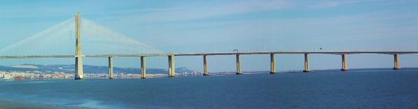 Vasco da Gama Bridge in Lissabon, Portugal, Europa Lizenzfreie Stockbilder