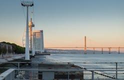 Vasco da Gama Bridge Longest Bridge in Europa lizenzfreies stockbild