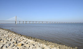 The Vasco da Gama Bridge Royalty Free Stock Images