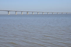 The Vasco da Gama Bridge over the river Tagus Royalty Free Stock Photo