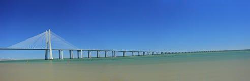 Vasco da Gama Bridge over the Tagus river. In Lisbon, Portugal Royalty Free Stock Image