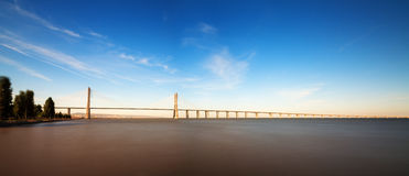 Vasco da Gama bridge panorama Stock Images