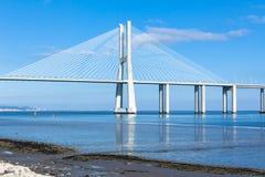 Vasco da Gama Bridge (Ponte Vasco da Gama), Lisbon Royalty Free Stock Photography