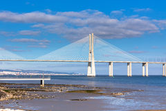 Vasco da Gama Bridge (Ponte Vasco da Gama), Lisbon Stock Photo
