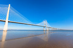 Vasco da Gama Bridge (Ponte Vasco da Gama), Lisbon Royalty Free Stock Image