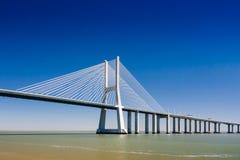 Vasco da Gama Bridge in Portugal Lizenzfreie Stockfotografie