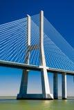 Vasco da Gama Bridge in Portugal Stock Foto's