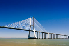 The Vasco da Gama Bridge in Portugal Royalty Free Stock Photography