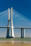 The Vasco da Gama Bridge in Portugal Stock Photography
