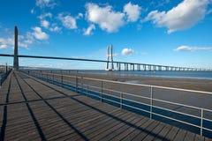 Vasco da Gama-brug Stock Foto