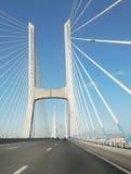 Vasco da Gama-brug, Lissabon, Portugal Royalty-vrije Stock Afbeeldingen