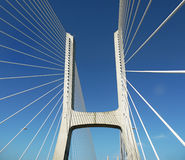 Vasco da Gama-brug, Lissabon, Portugal Royalty-vrije Stock Foto's