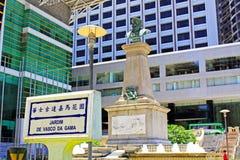 Vasco da Gama Garden Macao, Kina Arkivbilder