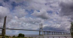 Vasco da Gama-hangbrug timelapse HD stock footage