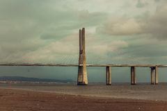 Vasco Da Gama most zdjęcia stock