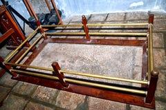 Vasco da Gama original- grav på den StFrancis kyrkan, fort Kochi Arkivfoto