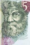 Vasco da Gama portrait. From Portuguese money royalty free stock photography