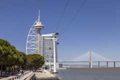 Vasco da Gama Tower, Myriad, Bridge - Lisbon Royalty Free Stock Images