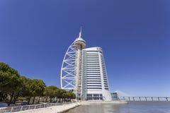 Vasco da Gama Tower / Myriad Hotel - Lisbon Stock Photo