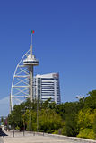 Vasco da Gama Tower / new Myriad Hotel - Lisbon Stock Images