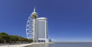 Vasco Da Gama wierza, Miriadowy hotel i Vasco Da Gama most, Zdjęcia Royalty Free