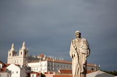 Vasco Da Gama zabytek odbitkowa przestrzeń - Lisbon, Portugalia - obrazy royalty free