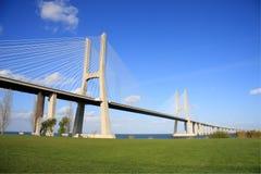 Vasco de Gama Bridge. View of the Vasco de Gama Bridge over the Tagus - Lisbon stock photography