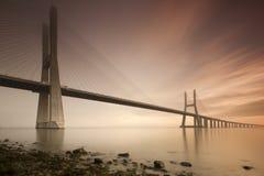 Vasco de Gama Bridge Foto de archivo