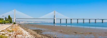 Vasco de Gama Bridge in Lisbon Stock Photo