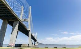 Vasco de Gama Bridge. View of the Vasco de Gama bridge stock images
