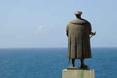 Vasco de Gama and the Ocean Stock Photo