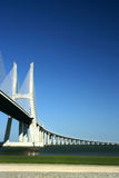 Vasco gama Bridge. In Lisbon (portugal) beautiful place and view stock image