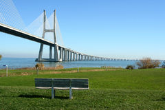 Vasco Gama bridge Royalty Free Stock Image