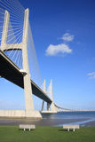 Vascoda Gama-Brücke Stockfotos
