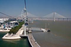 Vascoda Gama-Brücke Lizenzfreies Stockfoto