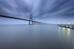 Vascoda Gama-Brücke in Lissabon Stockbild