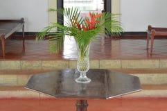 Vase à fleur en verre Photographie stock libre de droits