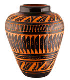 Vase à poterie d'argile de Natif américain de Navajo Photographie stock