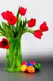 Vase à tulipes Image stock