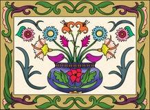 Vase λουλουδιών σχέδιο Στοκ Φωτογραφίες