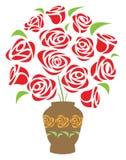 vase λουλουδιών διανυσματική απεικόνιση